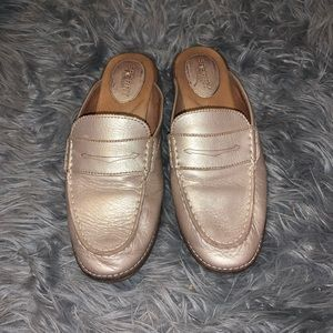 Sperry Gold Leather Slip-on Loafers